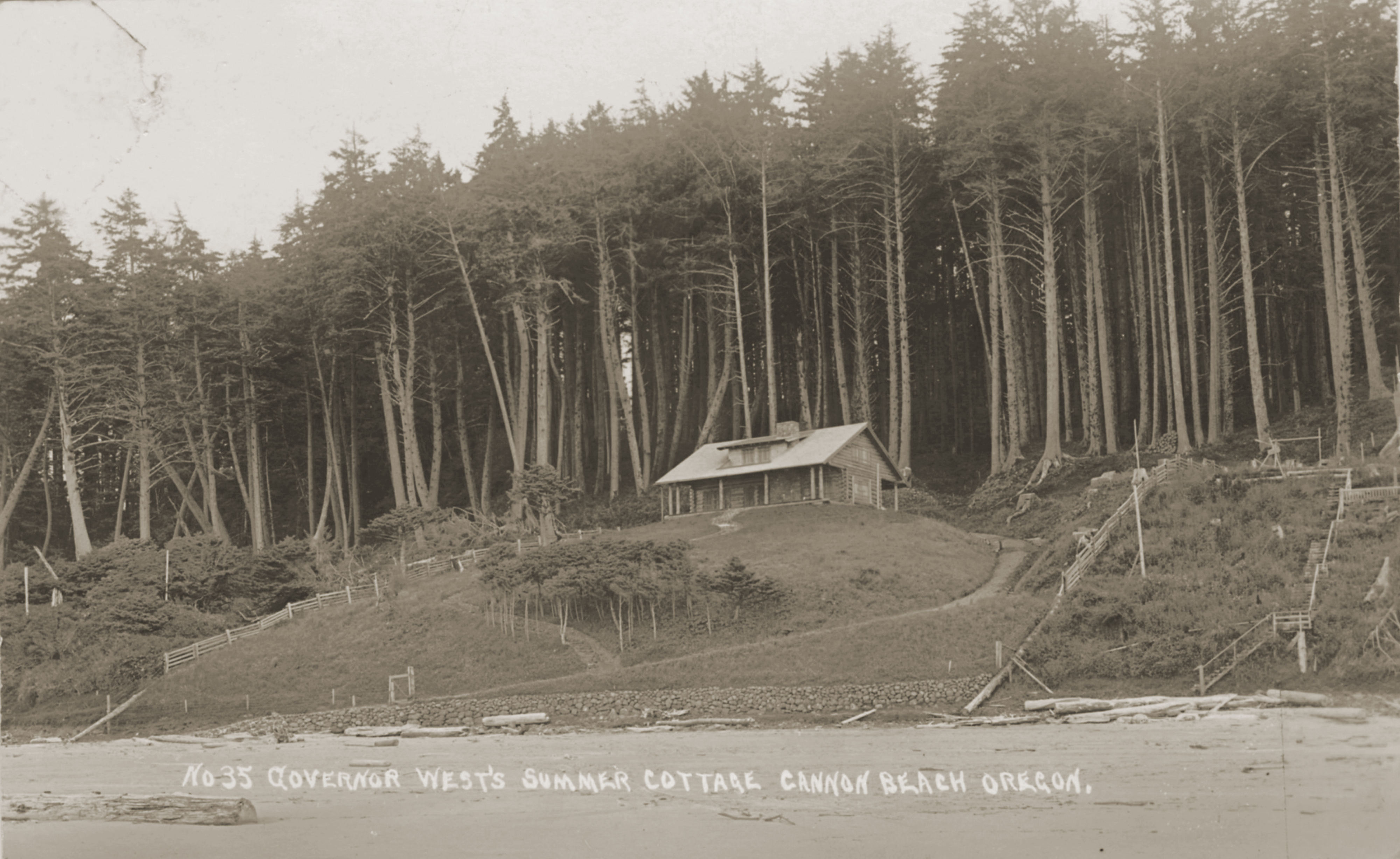 Summer Retreat of Governor Oswald West, circa 1913.